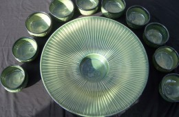 Huge Fluted Bowl With Servings For Ten