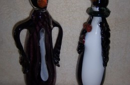 Penguins, Hand Blown Glass