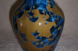 Awesome Blue Crystalline Vase #1