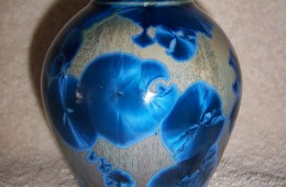 Awesome Blue Crystalline Vase #2