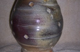 Shino Pot  with over glazes