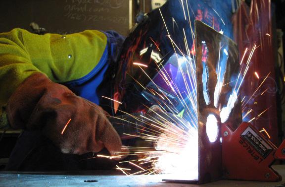 Metal Sculpture Class Photo Dave Ameika Pottery