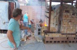 Soda Kiln Being Fired