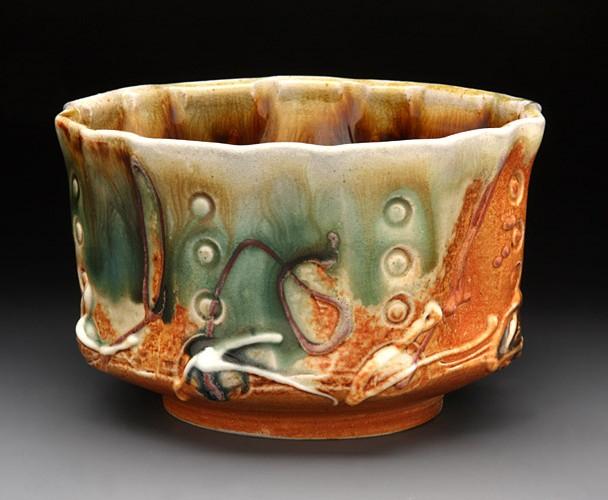 Soda Fired Tea Bourbon Bowl Dave Ameika Pottery