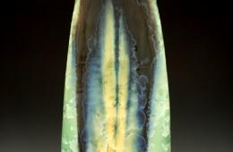 Tall Crystalline Vase